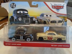 Disney Pixar Cars - Twin Pack - Heyday Junior Moon & Heyday Leroy Heming