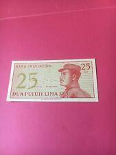 INDONESIA - 25 SEN - 1964 UNC