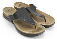WOMENS DANSKO SANDALS SHOES SIZE 38 EU 7.5 - 8 US BLACK BROWN FLIP FLOPS LEATHER