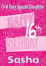 'SWEET 16'  Personalised Birthday Card!! ANY NAME / RELATION...CUTE CARD!!