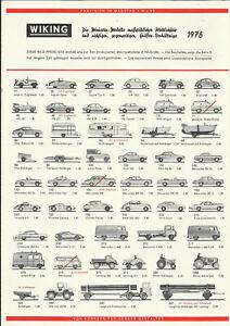 Katalog Wiking 1976 Modellautos in 1:87