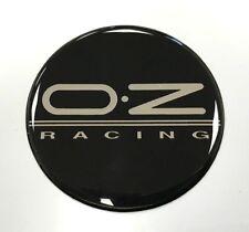 OZ Racing Sticker/Decal - 60mm Chrome & Black - HIGH GLOSS DOMED GEL FINISH
