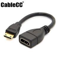 Cablecc Type C MINI HDMI Female to HDMI Male Extension for DV MP4 Player Camera