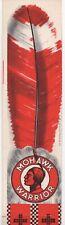 1930s Mohawk Warrior Paper Advertising Headdress from Mohawk Gasoline 9+