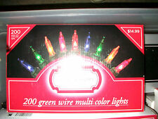 Trim A Home Boxes 200 Ct Multi Colored Christmas Set Green Wire