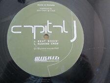 "CAPITAL J - BEAT BOXIN + RUSHING CREW 12"" 2003 Wikkid Records DnB/JUNGLE"