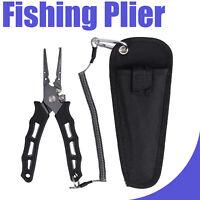 Stainless Steel Fishing Plier Hook Remover Braid Cutter Split Ring Scissor NEW