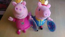 Princess Peppa e Prince George Pig giocattolo morbido Bundle Supersoft Collezionismo 20cm