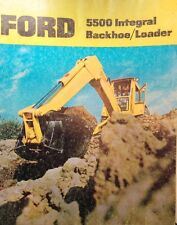 Ford 5500 Integral Color Tlb Tractor Loader Backhoe Sales Brochure Catalog Dirt