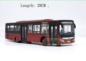 1/42 Scale YuTong City Bus Coach ZK6128HGK Diecast Bus Model