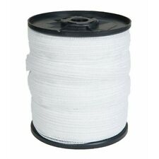 Electric Fence Tape 40mm x 200M White Poly Fencing Horse Paddock Field Lightline