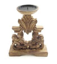 Bougeoirs et photophores de décoration intérieure de la maison porte-bougies en bois