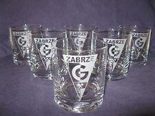 GORNIK ZABRZE -szklanki do whisky i nie tylko     6 SZT.