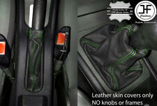 GREEN STITCH LEATHER GEAR HANDBRAKE COVER FOR VAUXHALL OPEL ASTRA G MK4 98-05