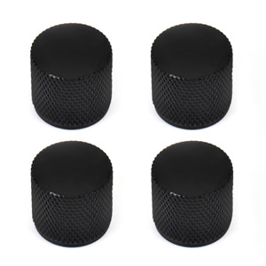 Volume Knob Black Metal Dome Tone For Electric Bass Guitar Dome 6mm Knobs 4 Pcs
