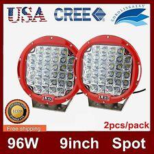 Pair 9inch 96W LED Work Light Round Spot Beam Fog Headlight Cree Offroad Jeep US