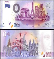 Zero (0) Euro Europe, 2017 - 4 (4th Print), UNC, Paris in France