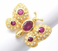 Anelli di lusso naturale perla di pietra principale rubino