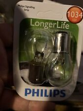 Lot Of 2 Packs Philips 1034 LongerLife Miniature Bulb, 2-Pack 1034LLB2