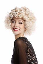 Parrucca Donna Halloween Carnevale Anni 80 Diva varie arricciato Ricci corto
