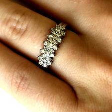 10K White Solid Gold Classy Elegant Ladies 0.5cttw Diamond Ring Band Size 5.5