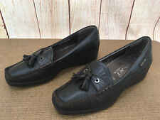 Womens 7M Mephisto Air Jet Comfort Tassel Leather Wedge Loafer Shoes P25(5