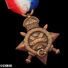 More details for 1914-15 star  mons star medal full size reproduction for campaign service ww1
