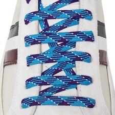 Lacci per Scarpe Sneakers - Bergal 140cm Piatti Larghi Azzurro Multicolor