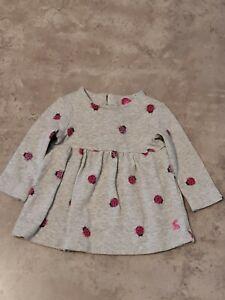 Joules Ladybirds Dress Girls 3-6 Months