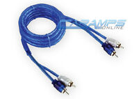 NEW BULLZ AUDIO 6 FT SHIELDED CAR STEREO 2 CHANNEL RCA INTERCONNECT AUDIO CABLE