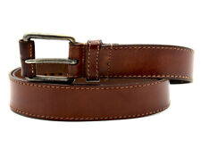 Geox Mens Leather Jeans Belt Brown Size 40