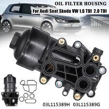 Boîtier Filtre à Huile Joints pour Audi Seat Skoda VW 1.6 TDI 2.0 TDI 03l115389H