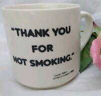 Thank You For Not Smoking Mug 1983 tobacco filthy weed Cup Benjamin Waterhouse
