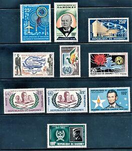 DAHOMEY 1961/65 AIRMAIL ISSUES MNH CV $20.00