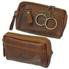 Branco Vintage Schlüsseletui Leder Schlüsseltasche Schlüsselmappe cognac 79024