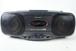 Sharp QT-CD44H Stereo Radio CD Player Cassette Recorder Boombox Hi-1069
