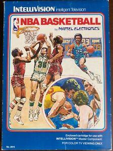 NBA Basketball from Mattel Electronics for Intellivision CIB