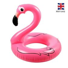 "36"" Giant Inflatable Flamingo Swimming Ring Water Float Raft Pool Fun Beach UK"
