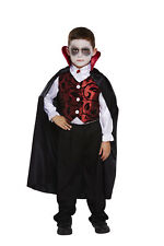 HALLOWEEN CHILDREN BOYS DELUXE VAMPIRE DRACULA BLOOD COUNT FANCY DRESS COSTUME