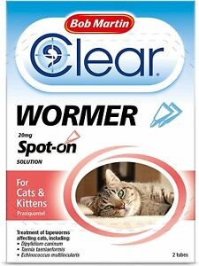 Bob Martin Clear | Spot On Wormer for Cats & Kittens