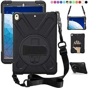 Three Layer Hybrid Drop Protection Case Stand Hand for Apple Ipad/Samsung Tablet