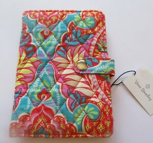 Vera Bradley Paisley in Paradise Travel Wallet Passport case quilt pink orange