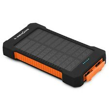X-DRAGON 10000mAh Portable Solar Charger Power Bank for iPhone iPad Android