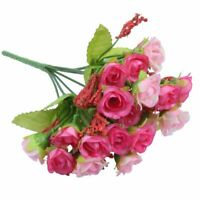 21pcs Artificial Rose Flower Bouquet Heads E8S4
