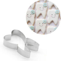 Cute Teeth Shape Stainless Steel Cookie Cutters Cake Decorating Mold Baking Tool