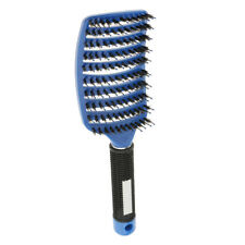 Curved Vented Paddle Detangling Hair Brush Nylon Bristle Pin Hairbrush Comb