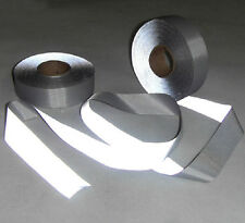 "Self-adhesive Silver Reflective Fabric Material Tape Width 2"" (50mm) x 5m"