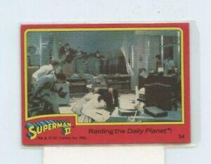 1980 Topps Superman II #54 Raiding the Daily Planet!