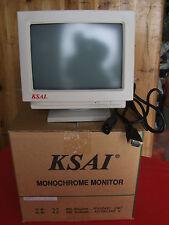 KSAI M0935 10 Inch  VGA Monochrome  Monitor new and boxed
