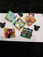 Disney pin Set Pixar Mystery Machine Puzzle Buzz Nemo Monsters Cars Mr. Incred.